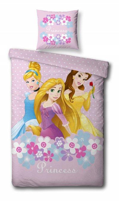 Disney Prinsesser - Junior Sengetøj - 100X140 Cm - Grå