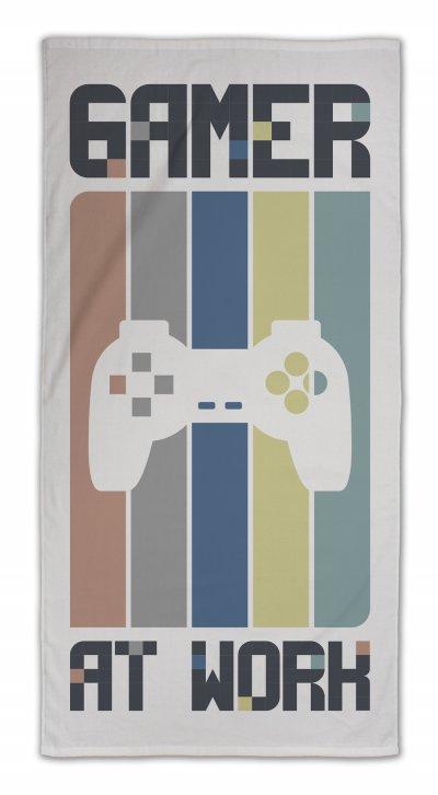 Myroom - Håndklæde - Gamer At Work - 70X140 Cm - Grå
