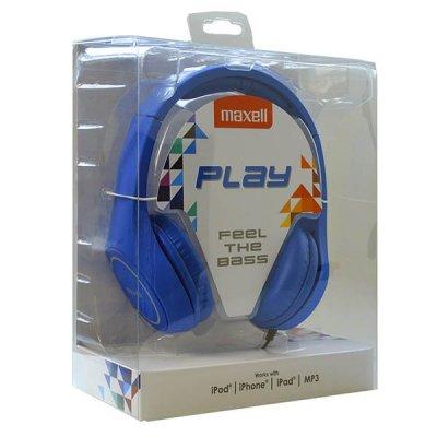 Maxell Play Mxh-Hp500 Hovedtelefoner - Blå