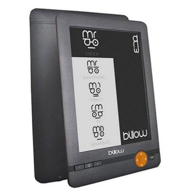 "Billow - E-Bogslæser - Bagbelyst - 4GB - 6"" Skærm"