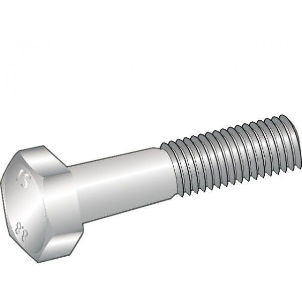 Elforzinket stålsætskrue Essve med delgevind m8x40 - 50 stk