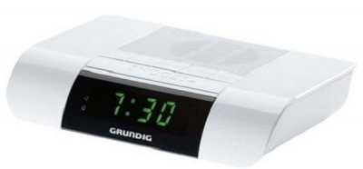 Grundig Clockradio - Sonoclock Ksc 35 - Fm Radio Vækkeur - Hvid