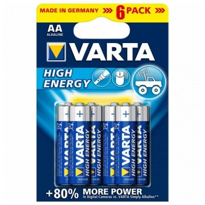 Varta High Energy Alkaline Batteri 1,5V Aa - 6 Stk