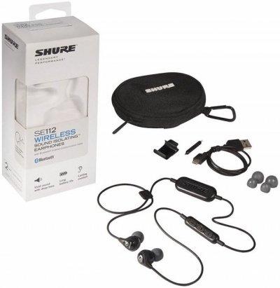 Shure Se112-K-Bt1 - Trådløs Lydisolerende In-Ear Høretelefoner - Sort
