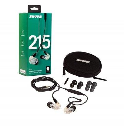Shure Se215 In-Ear Høretelefoner - Klar