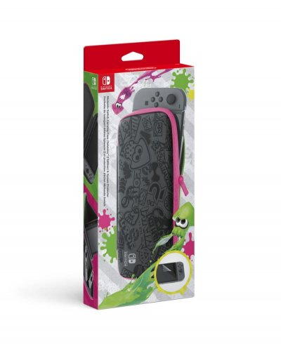 Nintendo Switch Carrying Case And Screen Protector - Splatoon 2 Edition