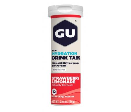 GU Hydration Tabs - Strawberry Lemonade - 1 x 12 stk.