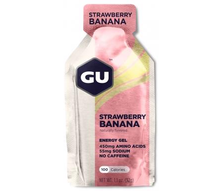 GU Energy Gel - Strawberry Banana - 32 gram - Kort holdbarhed