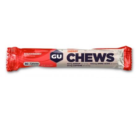 GU Chews - Energi vingummi - Strawberry - 54 gram