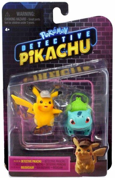 Pokémon Figurer - Detective Pikachu - Pikachu Og Bulbasaur - 5 Cm