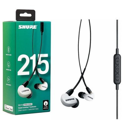 Shure Se215 In-Ear Høretelefoner - Hvid
