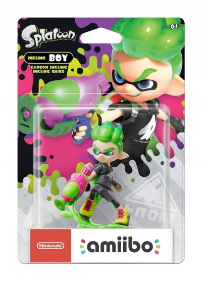Nintendo Amiibo - Splatoon Figur - Inkling Boy Neon Green