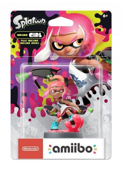 Nintendo Amiibo - Splatoon Figur - Inkling Girl Neon Pink