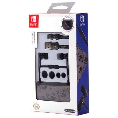 Nintendo Switch Travel Kit Med Bl.A. Høretelefoner, Kabel Og Skærmbeskytter