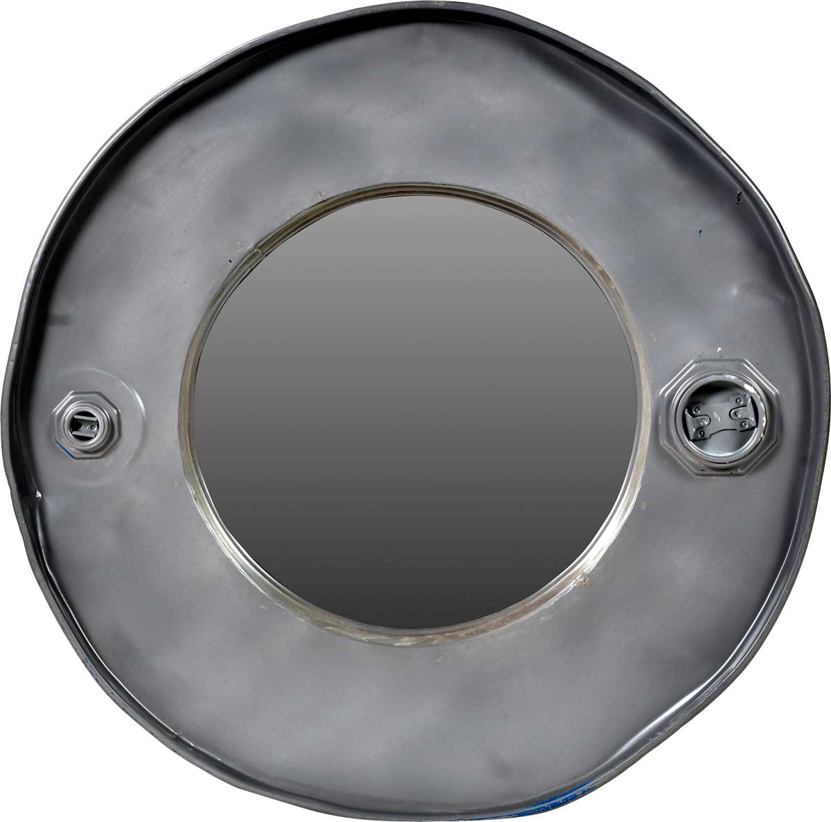 TRADEMARK LIVING vgspejl - spejglas, m. bred jernramme, rund ( 59)