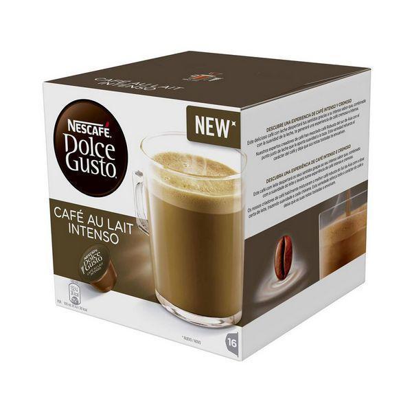 Kaffekapsler med æske Nescafé Dolce Gusto 45831 Café Au Lait Intenso (16 uds)