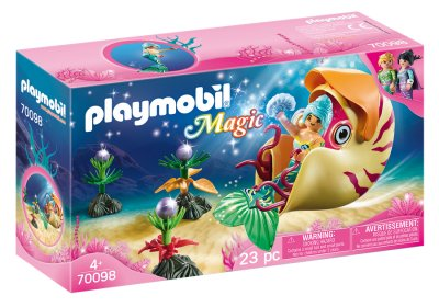 Playmobil - Magic - Havfrue Figur Med Havsneglsgondol - 70098