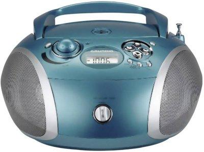 Grundig Gettoblaster Rcd1445Usb Med Cd Og Fm-Radio Turkisblå
