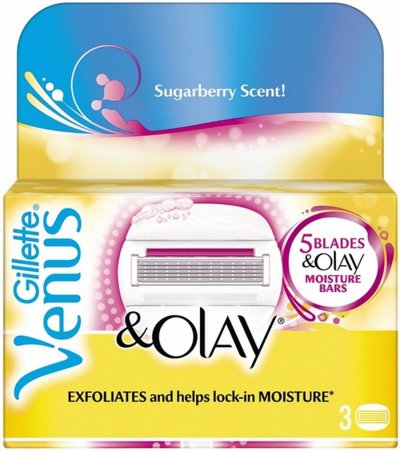 Gillette Venus + Olay Barberblade - Sugarberry Scent - 3 Stk