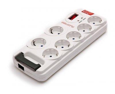 Salicru Sps Safe Stikdåse Med 7 Udgange Og 1 Rj11 Port - Max 2300W
