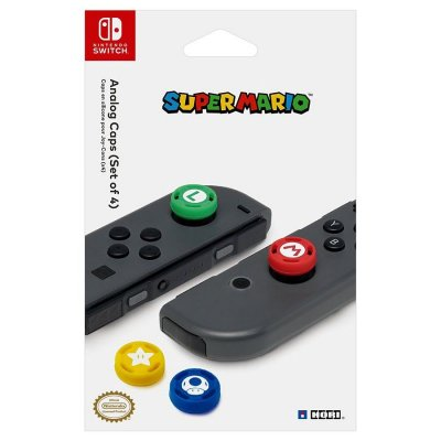 Hori Switch Super Mario Thumb Caps Kit - Sæt Med 4 Farvedesign