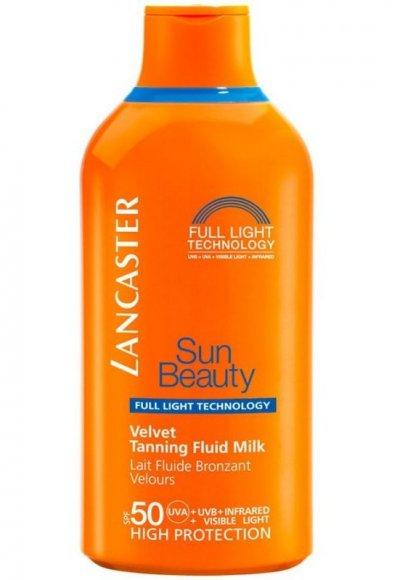 Lancaster Solcreme - Sun Beauty Velvet Tanning Fluid Milk Spf50 400 Ml