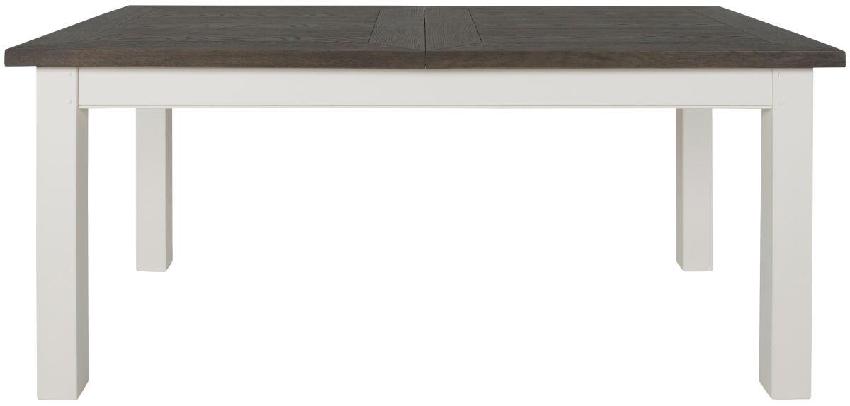 CANETT Skagen spisebord - rget eg og hvide trben, m. udtrk m. butterflybordplade (160x90)
