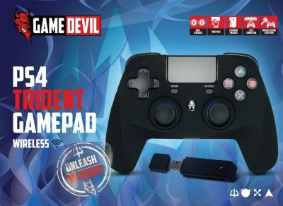 Game Devil PS4 Controller - Trident Game Pad Rf Wireless