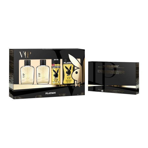 Parfume sæt til mænd Vip Him For Playboy (4 pcs)