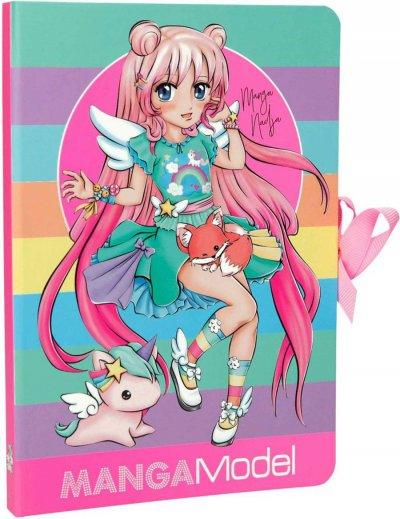 Top Model - Manga Model Notesbog - Regnbue Farver