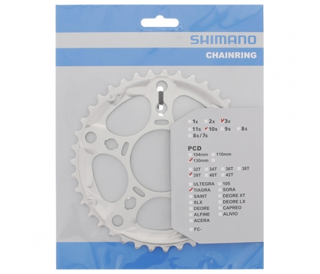 Shimano Tiagra - Klinge 39 tands FC-4603 Triple 10 gear