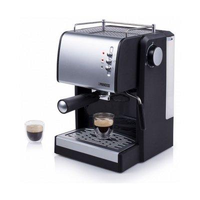 Princess - Manuel Espresso Kaffemaskine - 1,5L 1100W 15 Bar - Sølv Sort