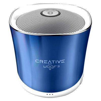 Creative Woof 3 - Trådløs Bluetooth Højtaler - Op Til 6 Timers Musik - Blå