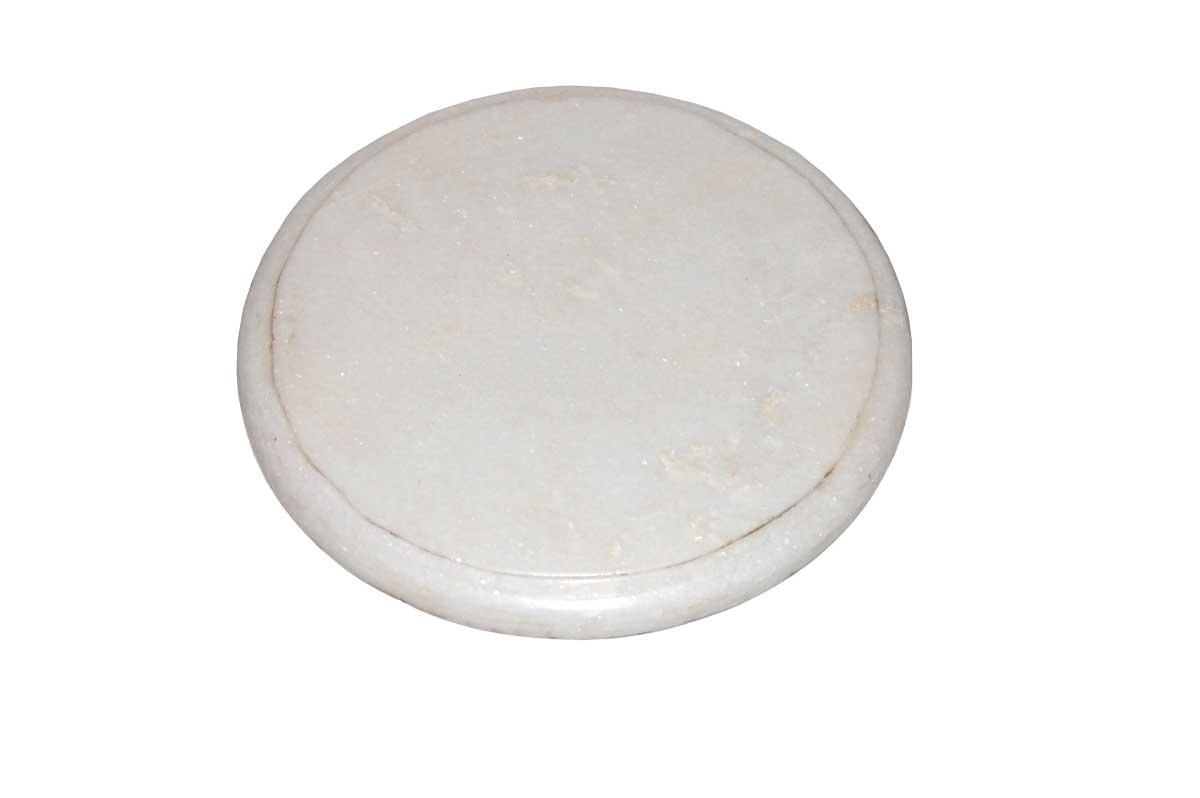 TRADEMARK LIVING Vintage bordskner - hvid marmor, rund ( 25)