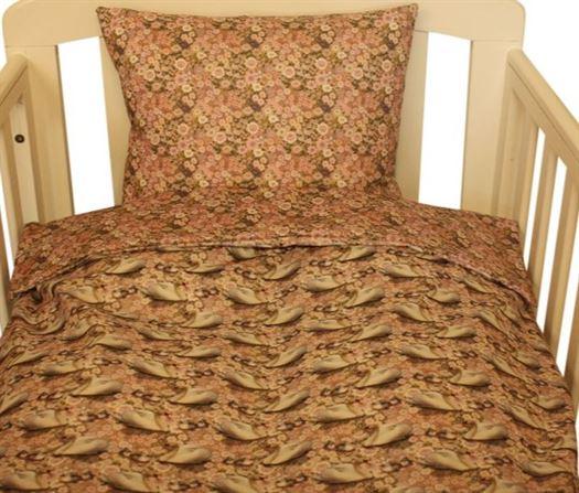 Junior sengetøj med svaner og blomster - Nørgaard Madsen