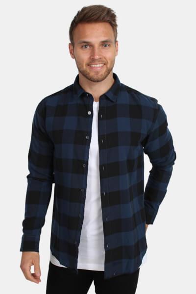 Only & Sons Gudmund LS Checked Skjorte Dress Blue