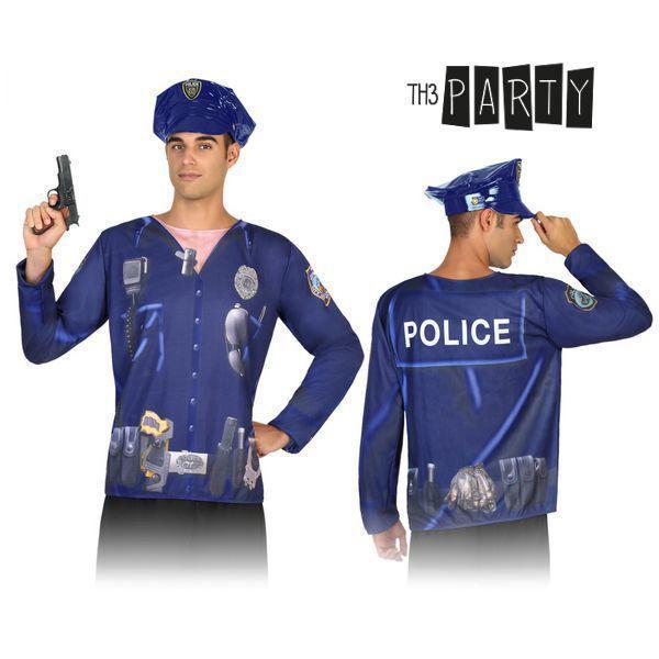 T-shirt til voksne 7598 Politimand
