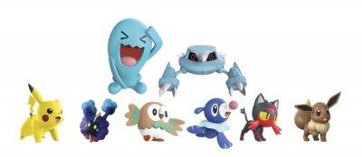 Pokémon Gave Pakken Med 8 Figurer - 5Cm & 8Cm