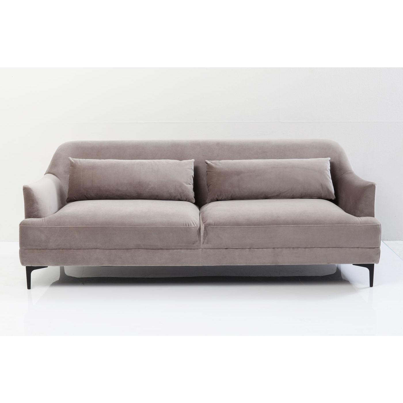 KARE DESIGN Proud Grey 3-personers sofa - grt stof/stl