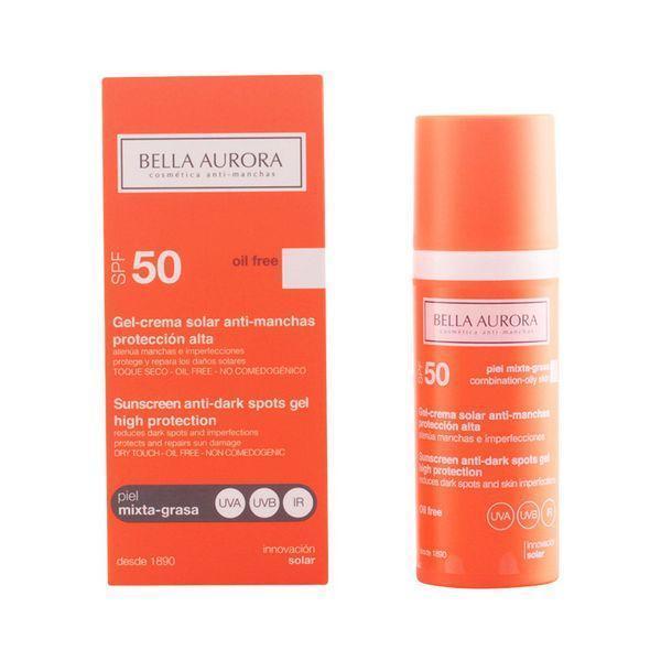 Solcreme som forebygger brune pletter Spf 50 Bella Aurora 3113