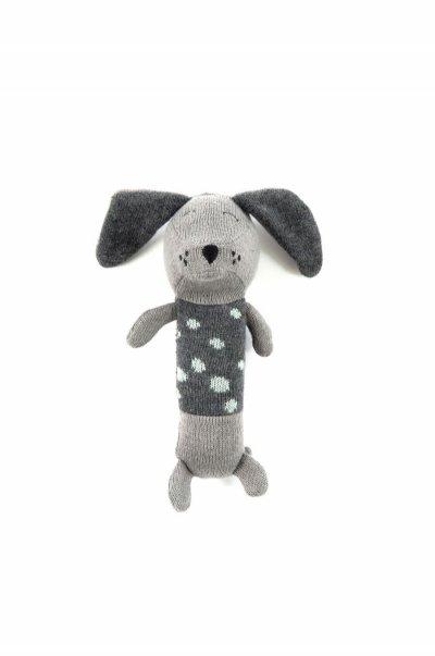 Smallstuff - Maracas Crochet Rattle - Dalmatine Dog, Grey