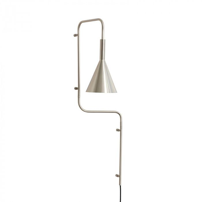 Hübsch væglampe børstet (nikkel/37x25xh81cm/e27)