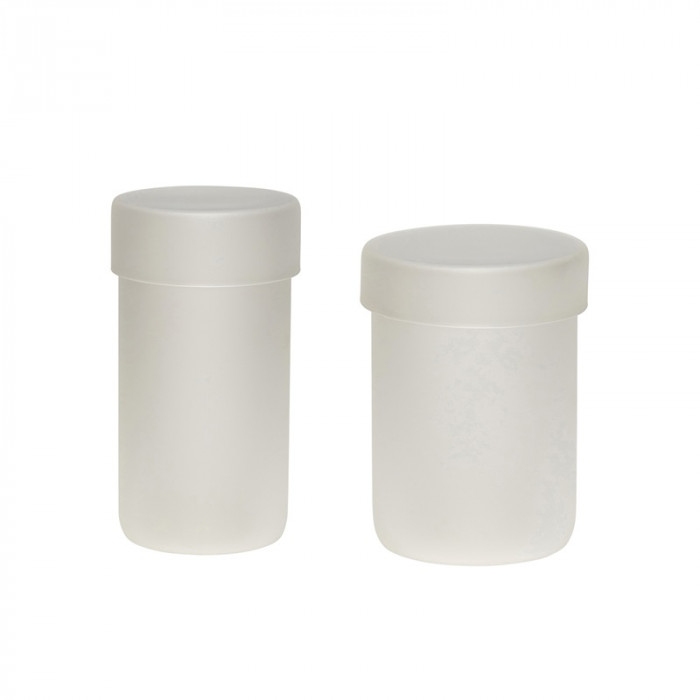 Hübsch opbevaringsglas m/låg (frost/glas/2 stk)
