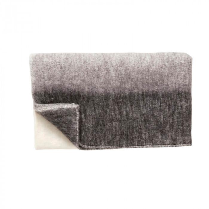 Hübsch plaid (akryl/grå/natur/sort/140x200cm)