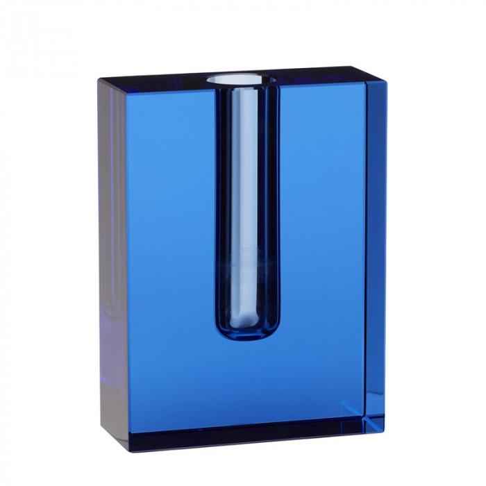 Hübsch vase (glas/blå/12x5xh16cm)