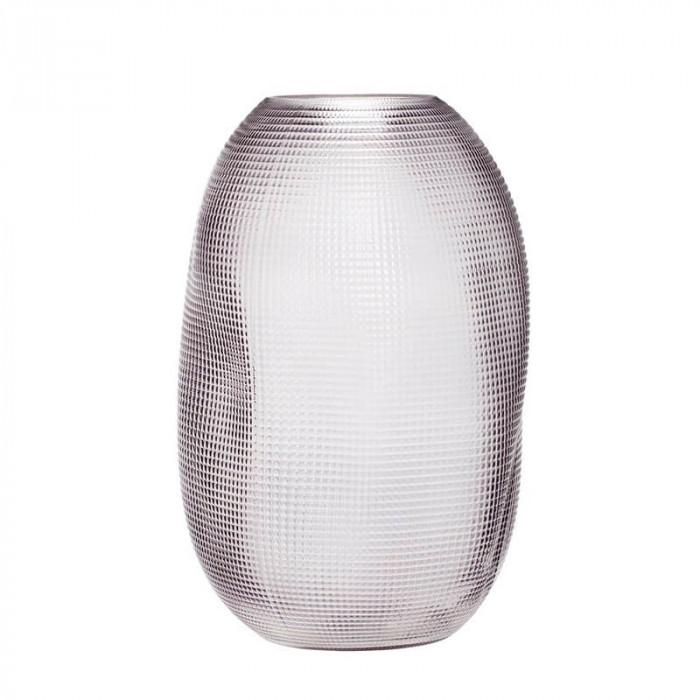 Hübsch vase (glas/røget/ø19xh30cm)