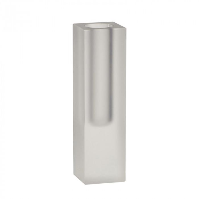 Hübsch vase (glas/frost/ø5xh18cm)