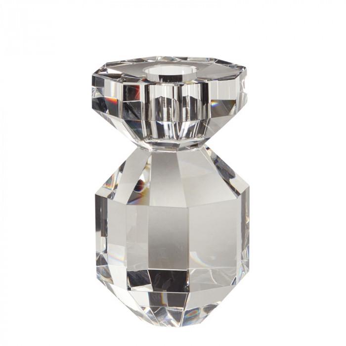 Hübsch lysestage (glas/klar/ø7xh11cm)