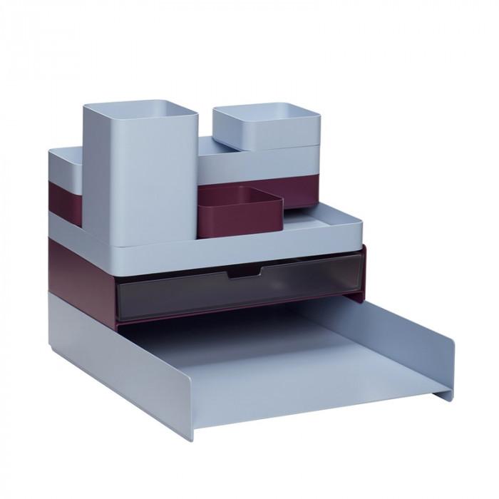 Hübsch skrivebordsordner (metal/25x31xh24cm)
