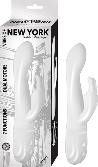 NASSTOYS Vibes of New York Luksus Rabbit Vibrator - Hvid